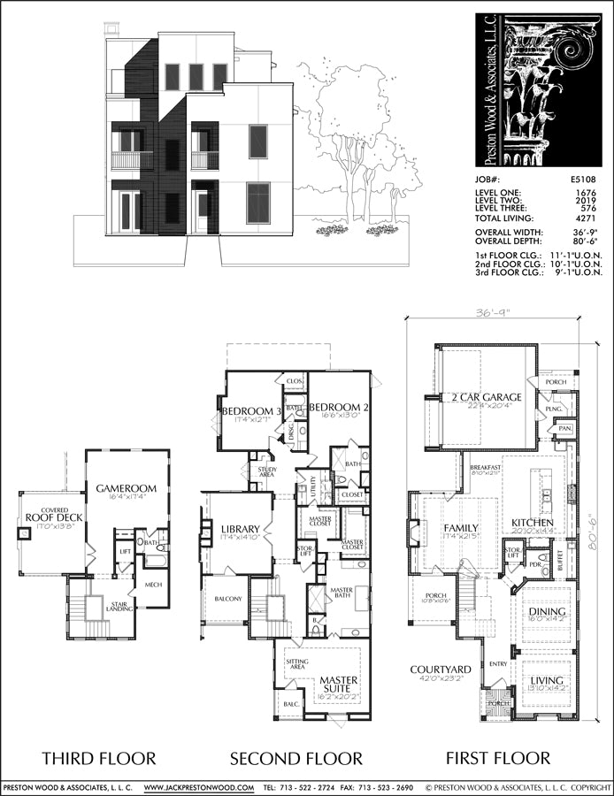 Two Story House Plan E5108