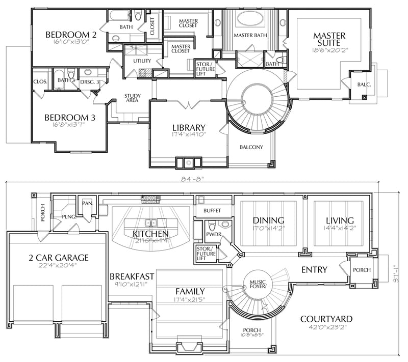 Do It Yourself Home Design: Best 2 Story House Plans, Two Story Home Blueprint Layout