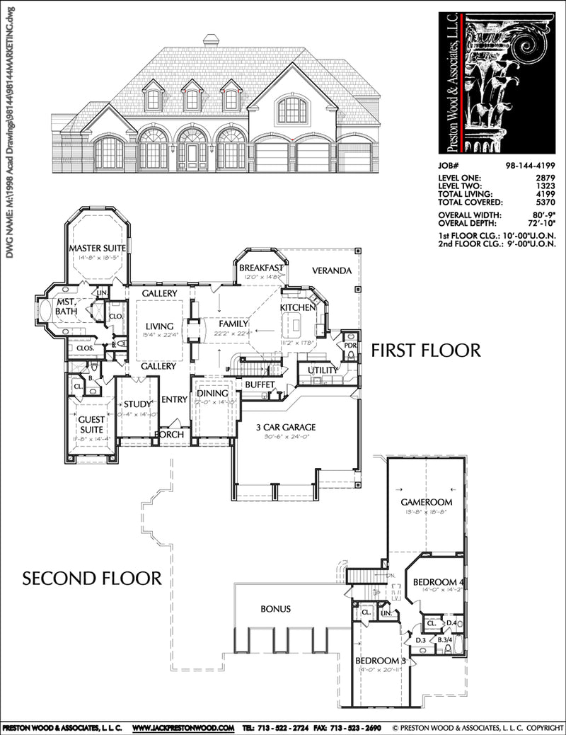 Two Story House Plan C8144