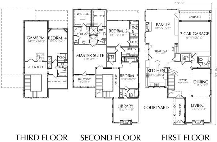 Urban House Plan E0100