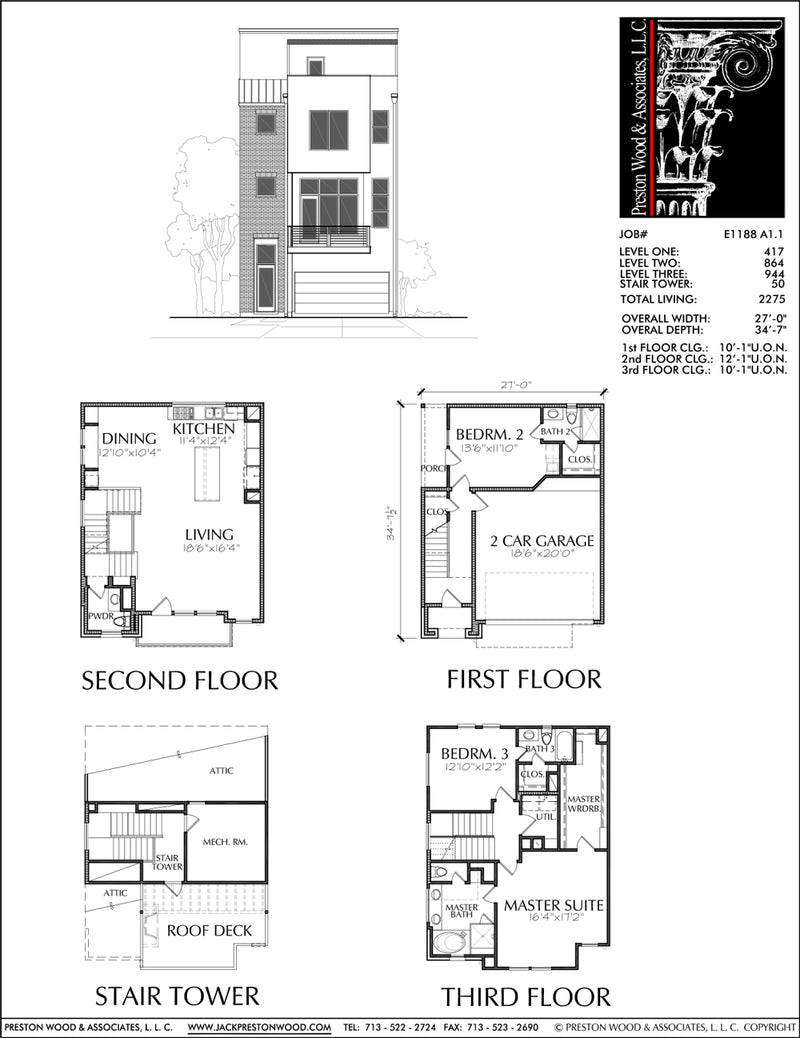 Townhouse Plan E1188 A1.1