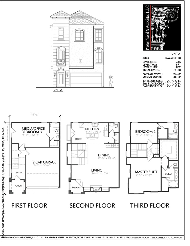 Duplex Townhouse Plan D6263 A