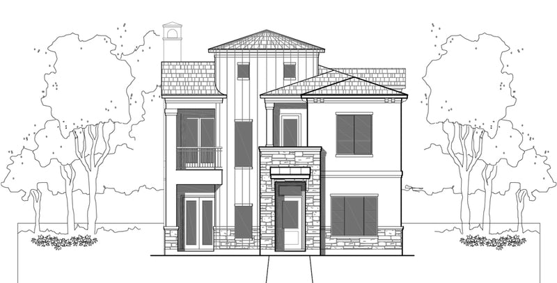 Two Story House Plan E3298