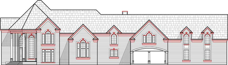 Two Story House Plan C3001