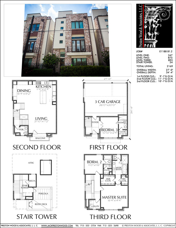 Townhouse Plan E1188 B1.2