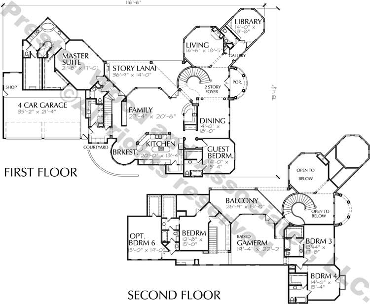Two Story Home Plan D2086
