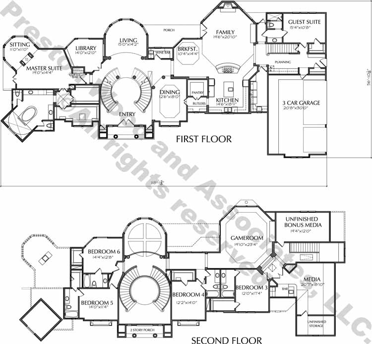 Two Story House Plan D9066