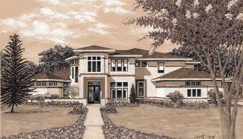Two Story House Plan D3239