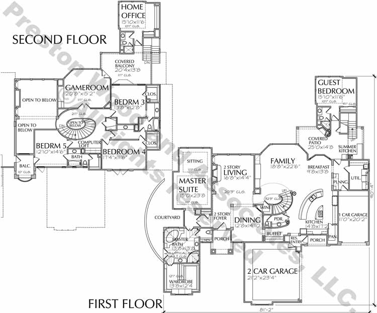 Two Story House Plan D2075