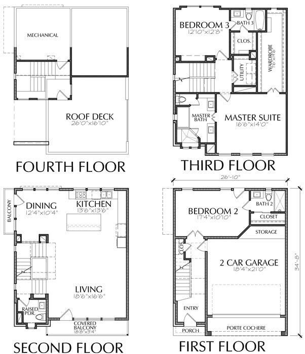 Townhouse Plan E3214 A2.2