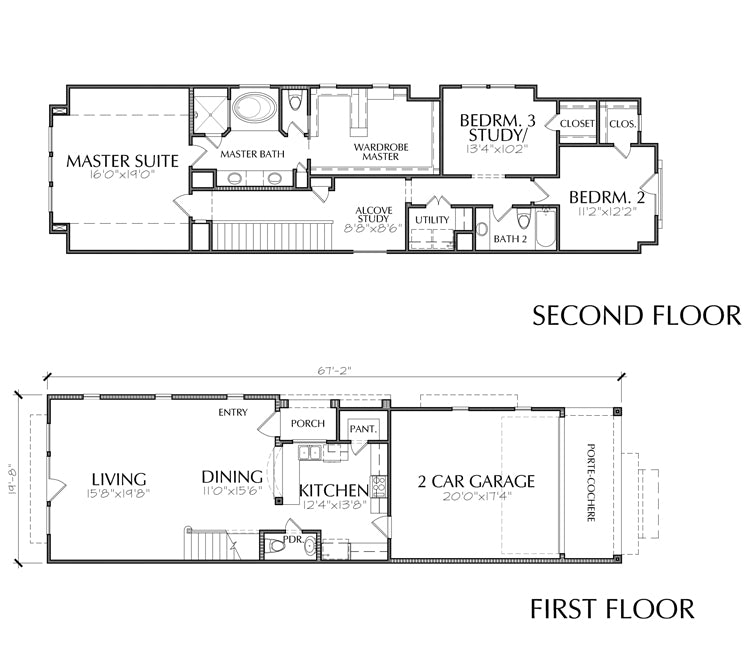 Townhouse Plan E2175 A1.1