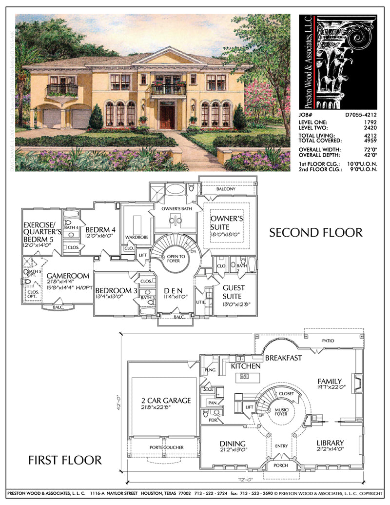 Two Story House Plan D7055