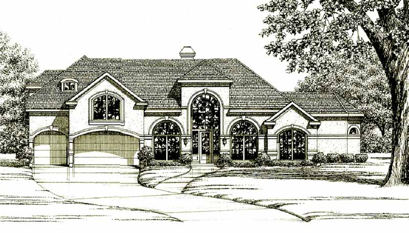 One Story Home Plan C6153