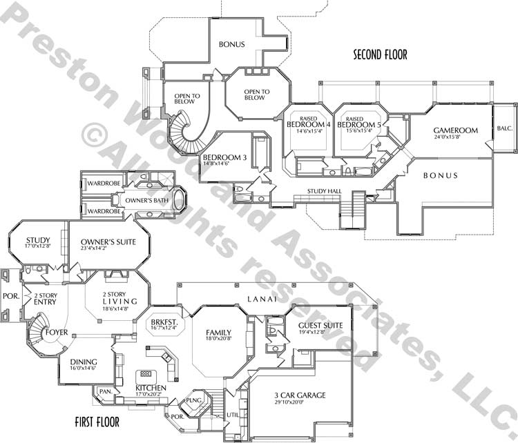 Two Story House Plan D0119