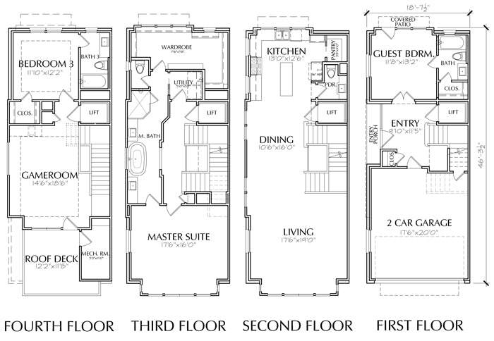 Townhouse Plan E3153 A1.1