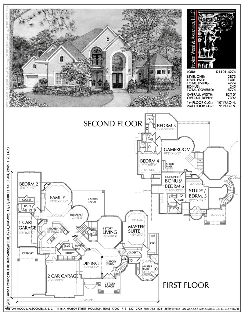 Two Story House Plan D1101