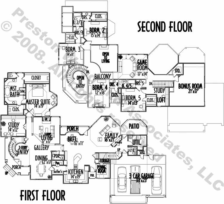 Two Story Home Plan C5292