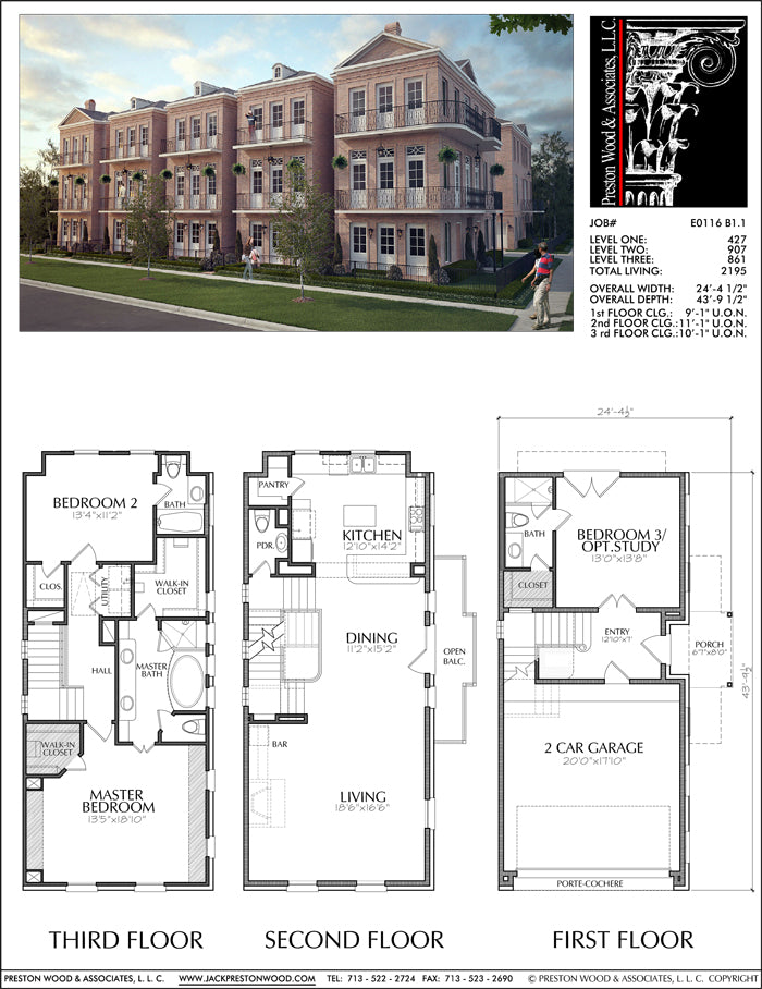 Townhouse Plan E0116 B1.1