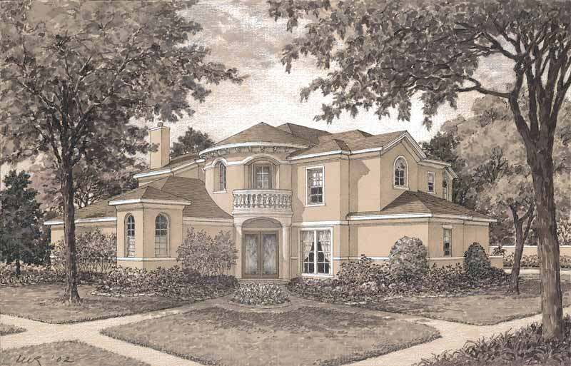 Two Story House Plan D4137