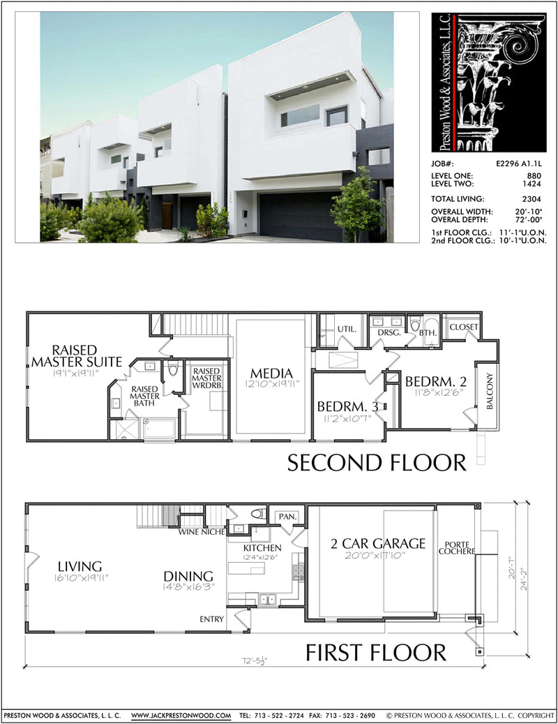 Townhouse Plan E2296 A1.1
