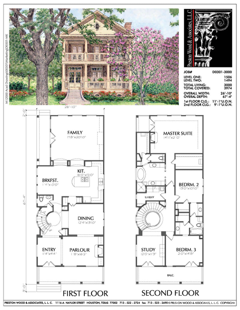 Narrow Home Plan D0301