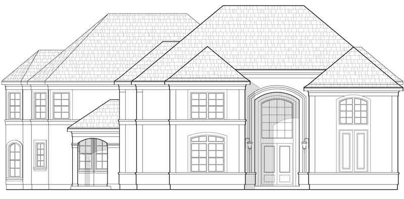 Two Story House Plan C9119