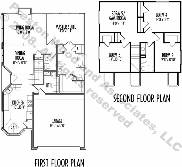 Two Story House Plan C4104