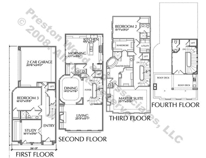 Townhouse Plan D4176 u11