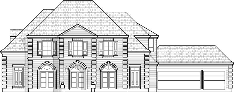 Two Story House Plan C5202