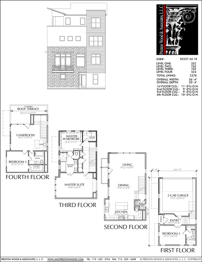 Townhouse Plan E2237 A2.1R