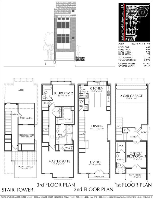 Townhouse Plan E2275 A1.1