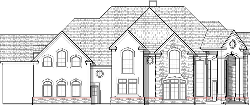 Two Story House Plan C6020