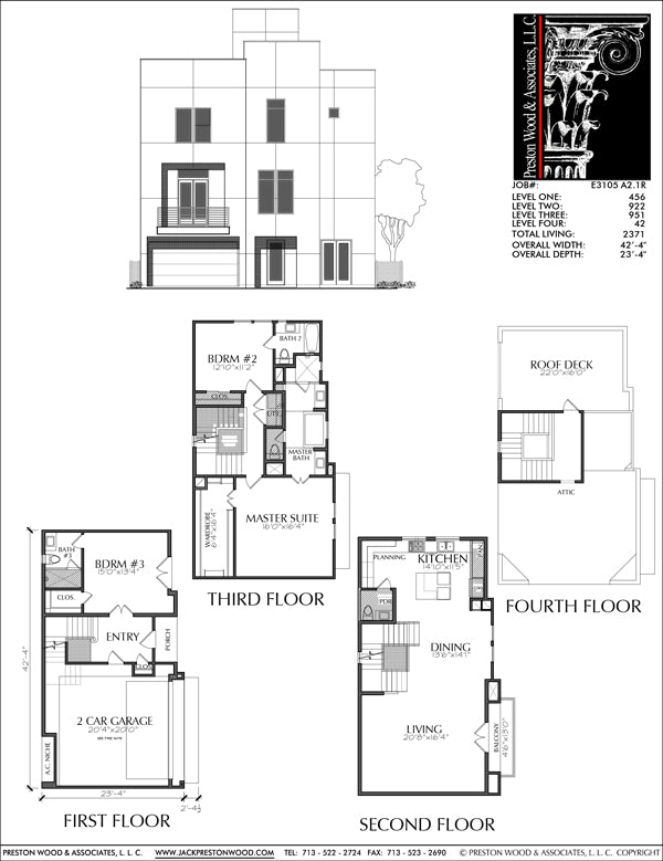 Townhouse Plan E3105 A2.1
