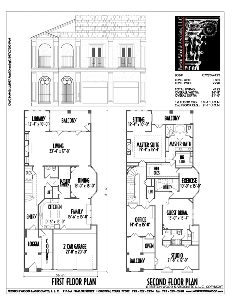 Urban House Plan C7290