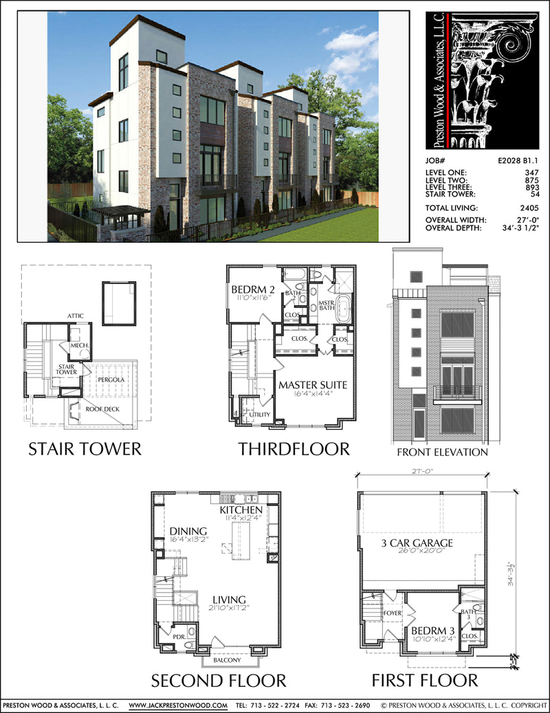 Townhouse plan e2028 b1 1
