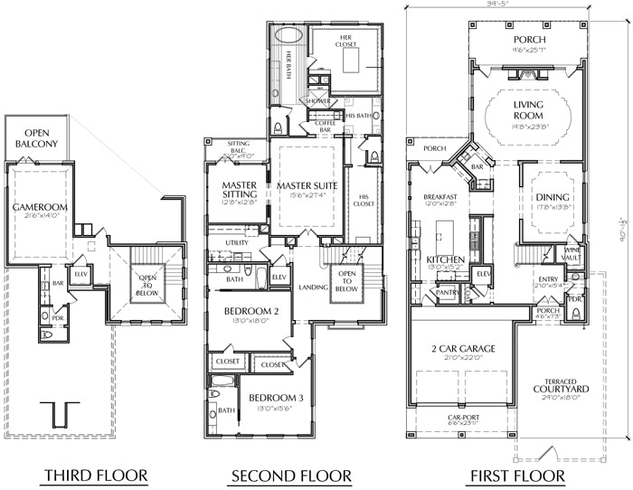Two Story House Plan D5243