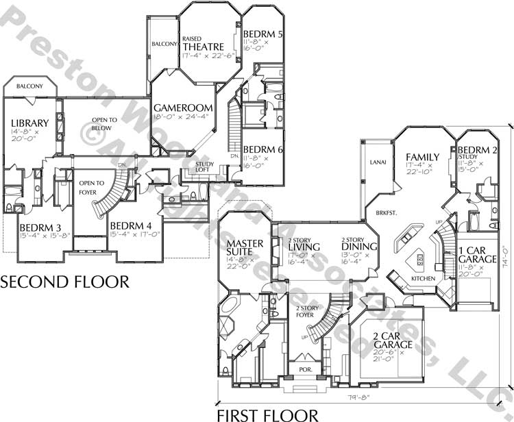 Two Story House Plan C7270