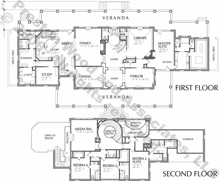 Two Story Home Plan C8001