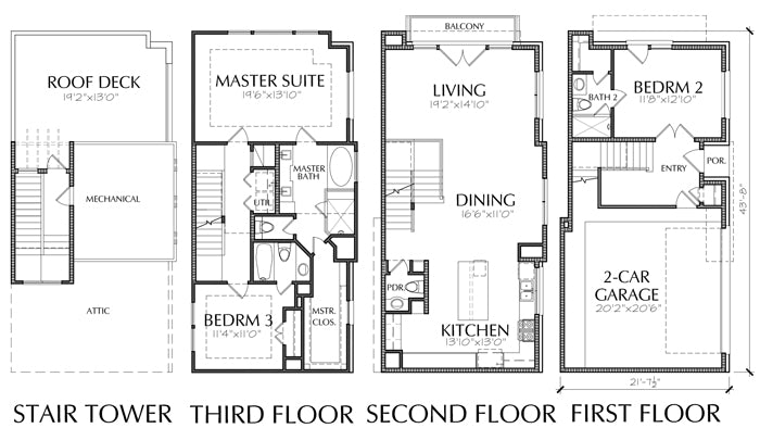 Townhouse Plan E2078 A4.2