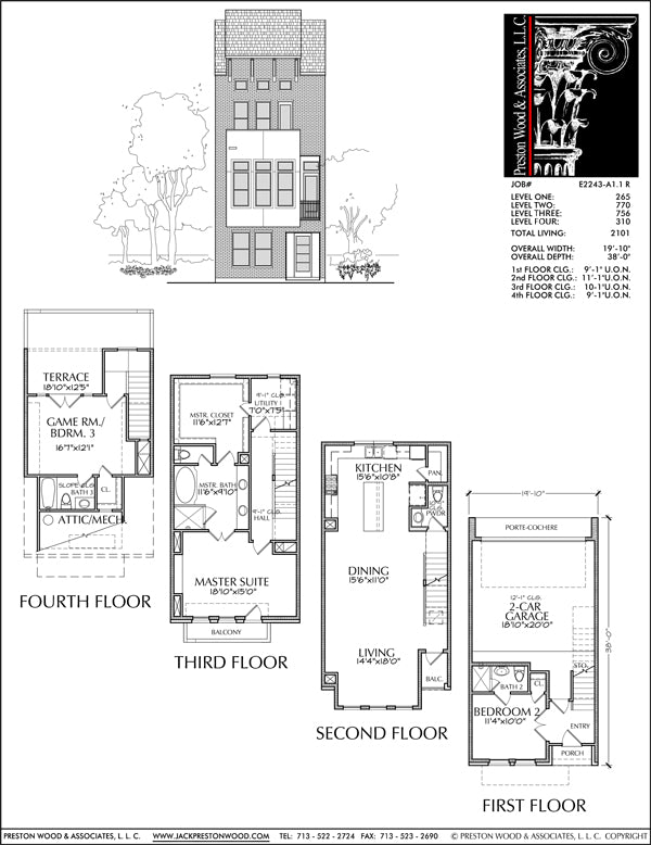 Townhouse Plan E2243 A1.1