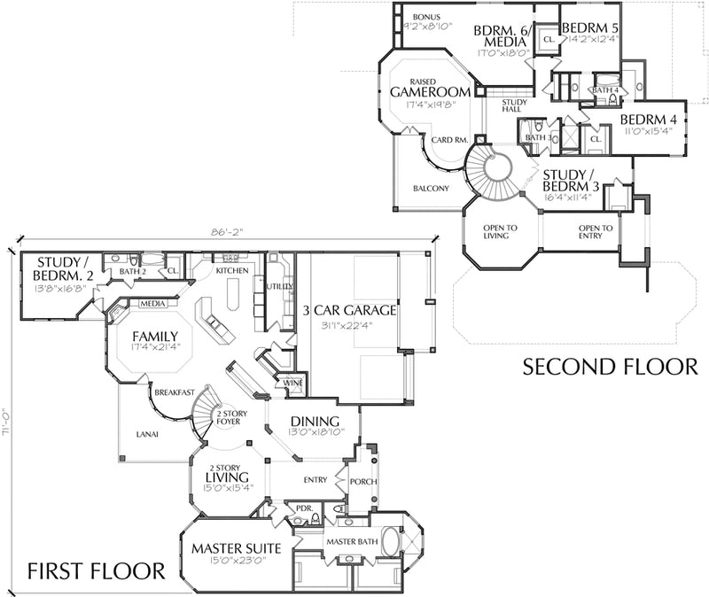 Two Story House Plan D4007
