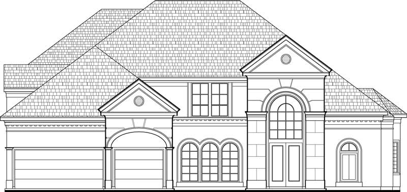 Two Story House Plan C9117