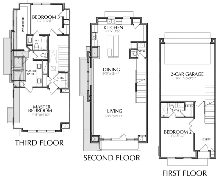 Townhouse Plan E2036 C2.1