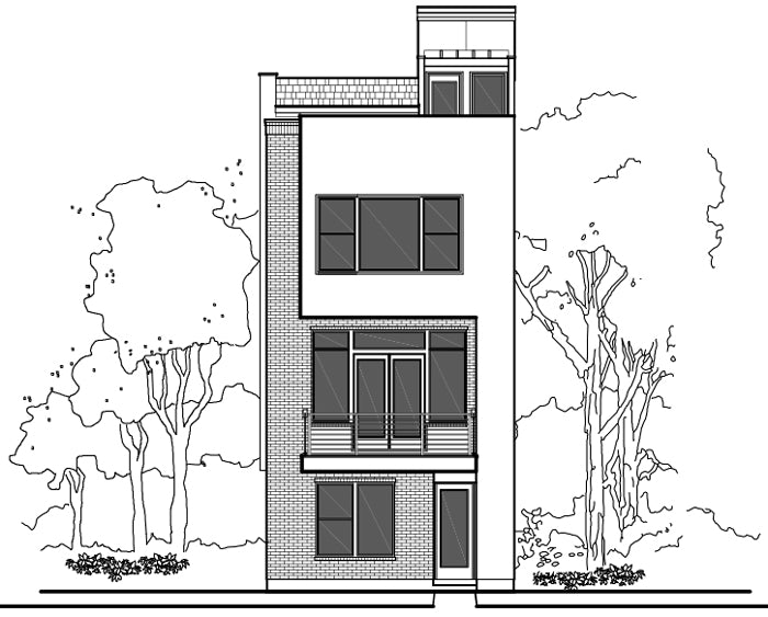 Townhouse Plan E2078 A1.1