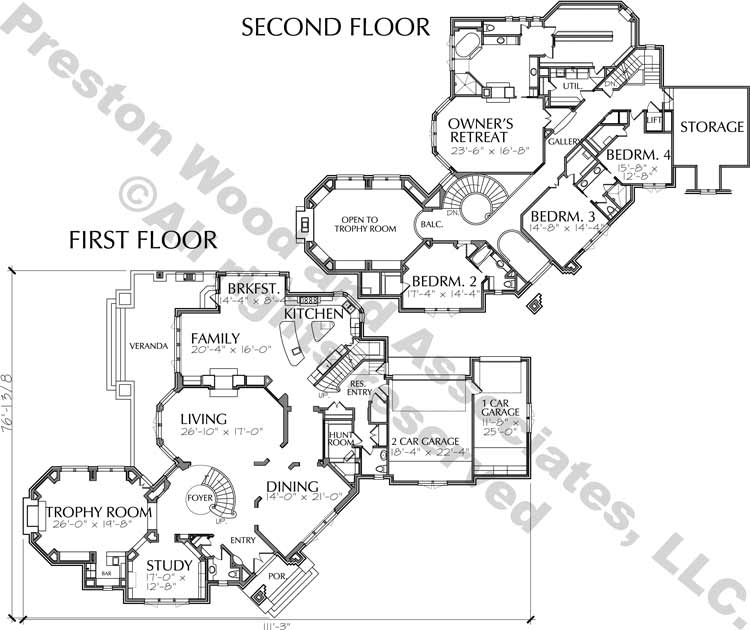 Traditional Style Home Plan aC9230
