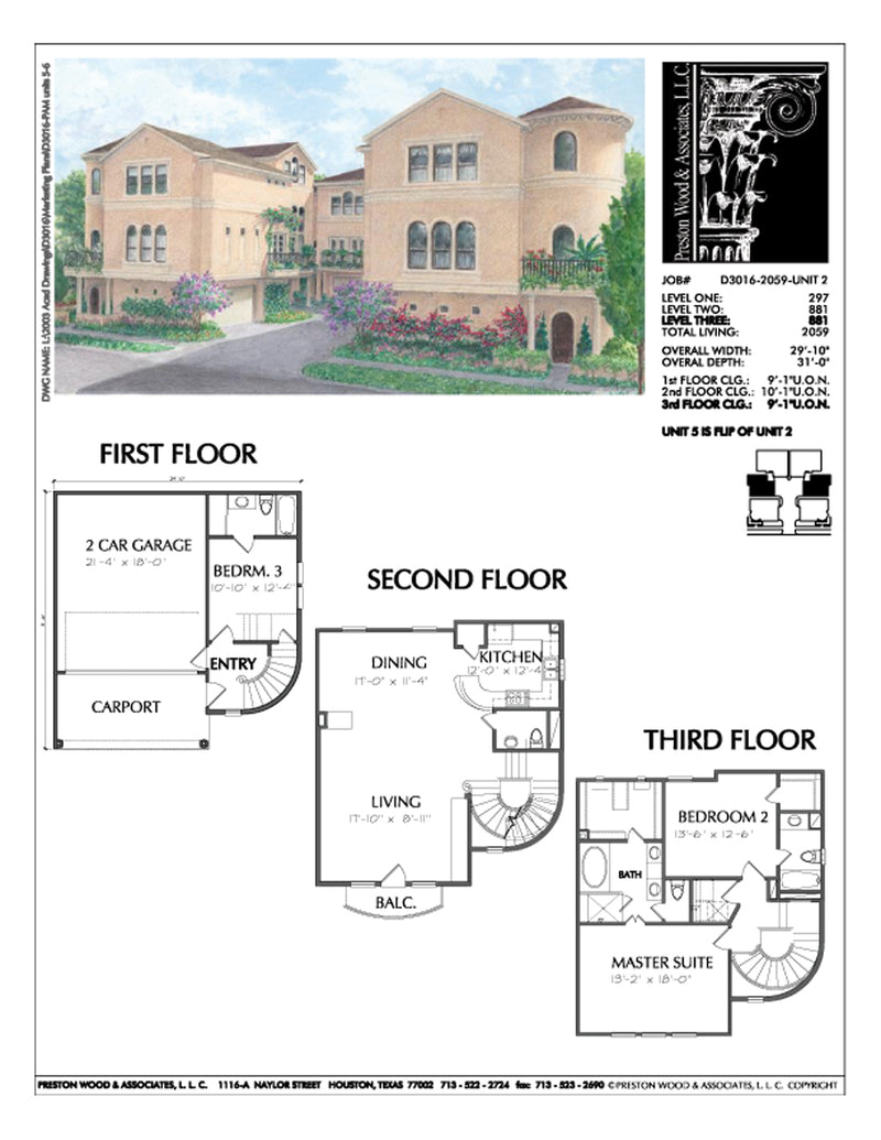 Townhouse Plan D3016 u2