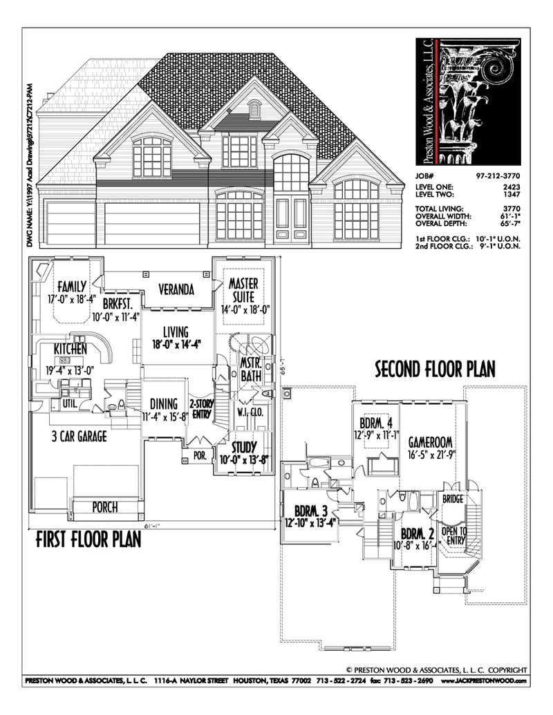 Two Story House Plan C7212