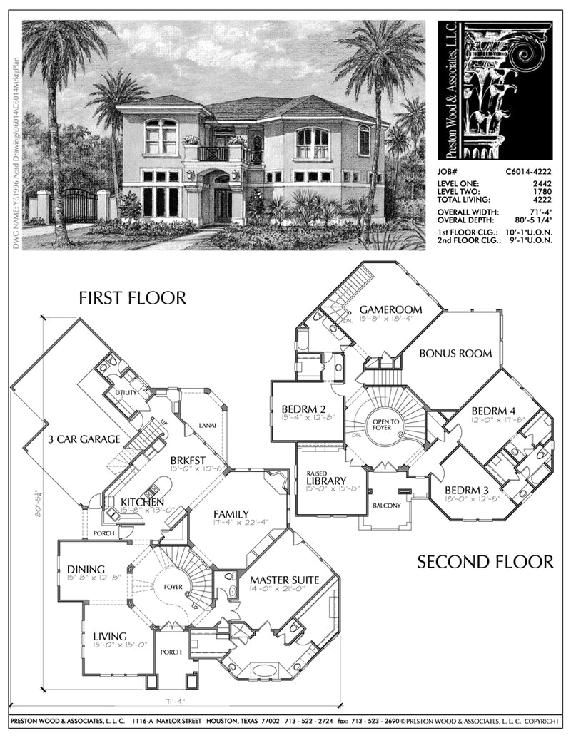 Two Story House Plan C6014