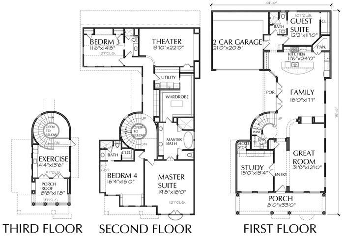 Two Story Home Plan aD6006