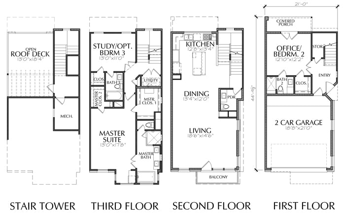 Townhouse Plan E2293 B1.1R